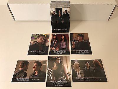 2014 Cryptozoic The Vampire Diaries Season 3 Complete 72 Trading Card Base Set