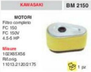 11013.2120 FILTRO ARIA COMPLETO MOTORE KAWASAKI FC150 FC150C FC 150 102x65x56 tKp3Pok5-07201650-523528841