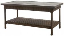 Hampton Bay Beacon Park Wicker Outdoor Coffee Table Slat Top Patio Furniture