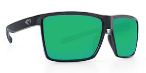 Green Mirror 580P Polarized Costa Del Mar Rincon Sunglasses RIN 11 OGMP Black