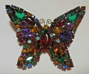 Vintage Butterfly Brooch Butterfly Rhinestone Brooch