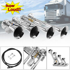 185db Super Loud Four Trumpet Air Horn For Car Vehicle Truck Train Boat 12v 24v