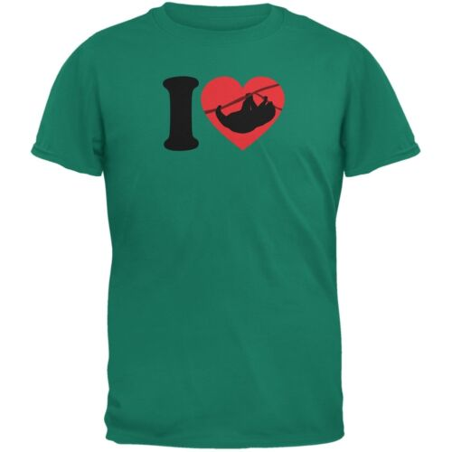 I Heart Love Sloth Sloths Jade Green Adult T-Shirt