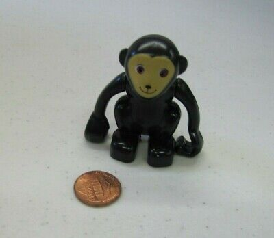 Lego Duplo BROWN MONKEY Tan Face /& Ears Animal Zoo Jungle cute replacement