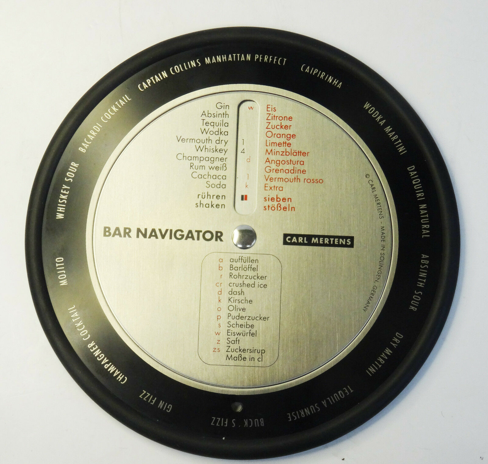 Carl Mertens bar Navigator bar BUSSOLA navi in Acciaio Inox-Made in Germany Solingen