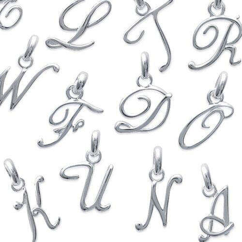 Pendentif Initiales Lettre Style Classique en Argent 925 NEUF Lettres au CHOIX