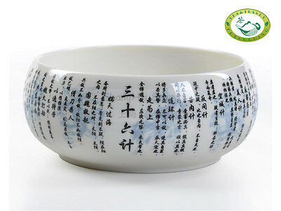 36 plan Chinese Character Porcelain Cha Xi * Water Bowl for Gongfu Teacups
