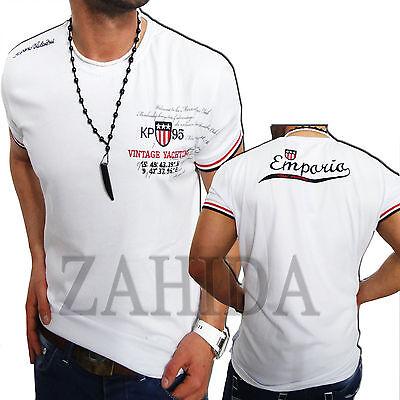 Polo Herren T-Shirt Sweat Kurzarm Style Weiss Weiß Club Party S M L XL XXL NEU