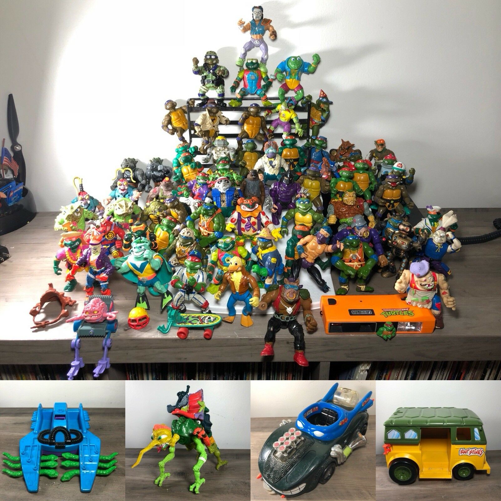 Huge mixed lot of  67 TMNT azione cifras Plus Vehicles   con il 60% di sconto