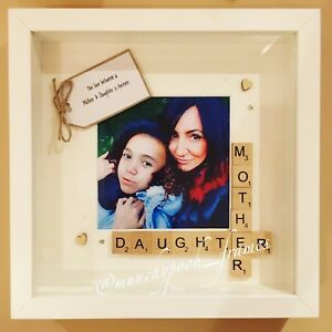 Mother Daughter Photo Frame Handmade Personalised Gift Birthday