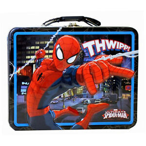 "Ultimate Spider-Man ""THWIPP!"" Metal Tin LunchBox Lunch Box Bag Marvel Heroe NEW"