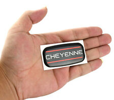 1x Cheyenne Cab Emblem Right Left Badge Roof Pillar For 88 07 Silverado Red