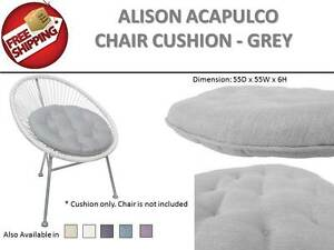 GREY-Round-Seat-Pad-Chair-Cushion-Mat-l-Home-Office-Floor-Indoor-Outdoor-Cafe