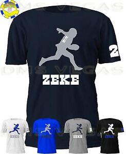 new concept 0206b 4e6da Details about Dallas Cowboys Ezekiel Elliott Zeke Jersey Tee Shirt Men Size  S-5XL Shadow