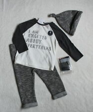 ***BNWT Next baby boy Slogan top, joggers, hat and socks set 0-1 month/newborn**