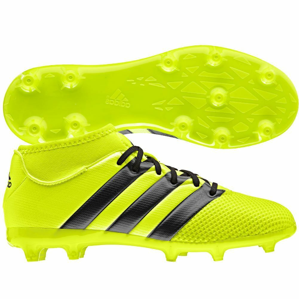 Adidas Ace 16.3 Primemesh FG / AG  2016 Soccer Shoes New Yellow Kids - Youth