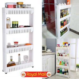 UK-4-Tier-Slide-Out-Kitchen-Trolley-Rack-Holder-Storage-Shelf-Organiser-on-Wheel