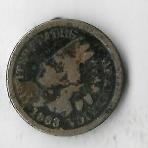 Rare-Antique-US-1863-Civil-War-Indian-Head-Penny-Collection-Cent-Coin-Lot-S37