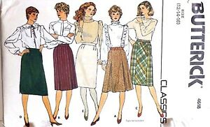 Fitted-Office-Business-Skirt-Sewing-Pattern-4618-Size-12-Butterick-70s-80s-Vtg