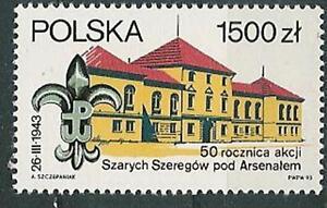 Poland stamps MNH Scouting (Mi. 3438) - Bystra Slaska, Polska - Poland stamps MNH Scouting (Mi. 3438) - Bystra Slaska, Polska