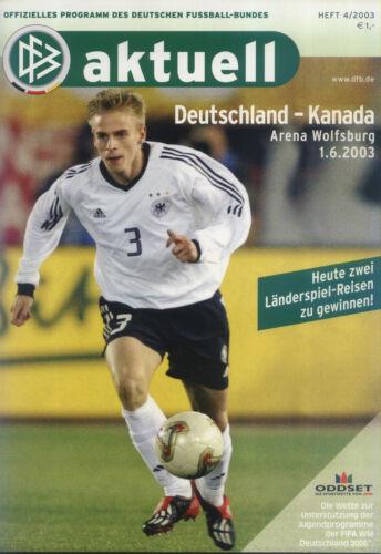 01.06.2003 DFB-Aktuell 4//2003 Deutschland Canada Kanada