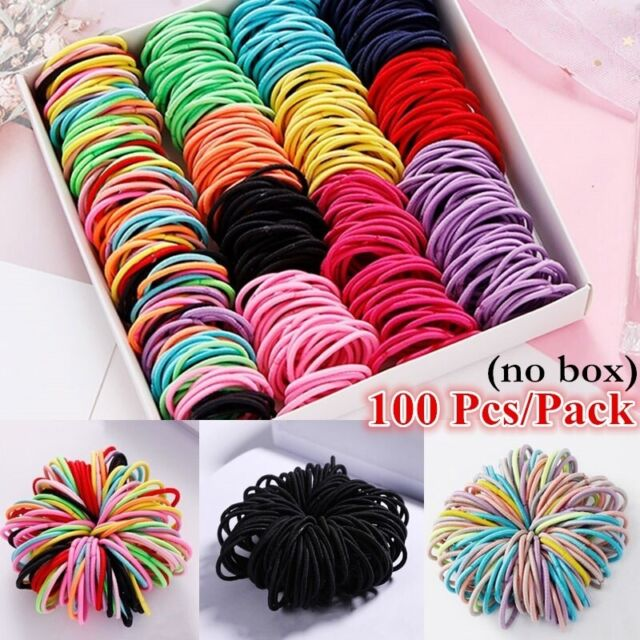 100PCS Hair Ties Elastic Rubber Band Rope for Baby Girls Fashion Ponytail Holder