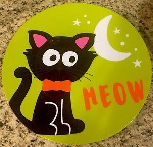 Image is loading Halloween-Cat-Plastic-Plates-Candy-Dish-18-034- & Halloween Cat Plastic Plates Candy Dish 18\