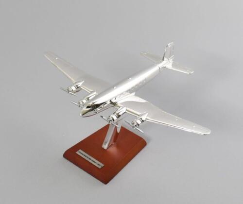 5 Focke Wulf Fw 200 /'Condor/' 1937-1:200 PLANE AIRCRAFT ATLAS PLATED SILVER