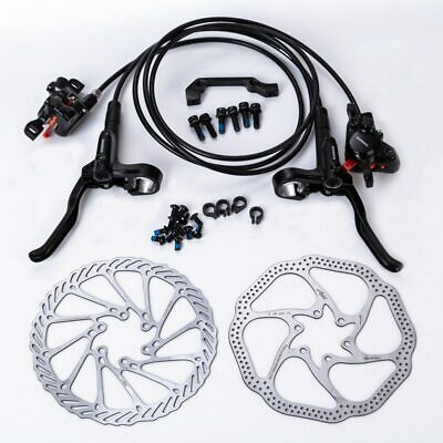 New SHIMANO M365 MTB Hydraulic Disc Brake Set Front/&Rear 2XRT56//G3//HS1 Rotor