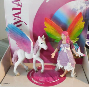 Bayala-Lis-and-Pegasus-Foal-Elf-Fairy-Figurine-Schleich-Figure-70484-RETIRED