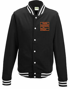 Illegal Sweatjacket Bianco Nero No Human Campus Is agwWvPq