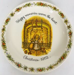 Holly hobbie 1972 christmas plate commemorative edition | ebay.