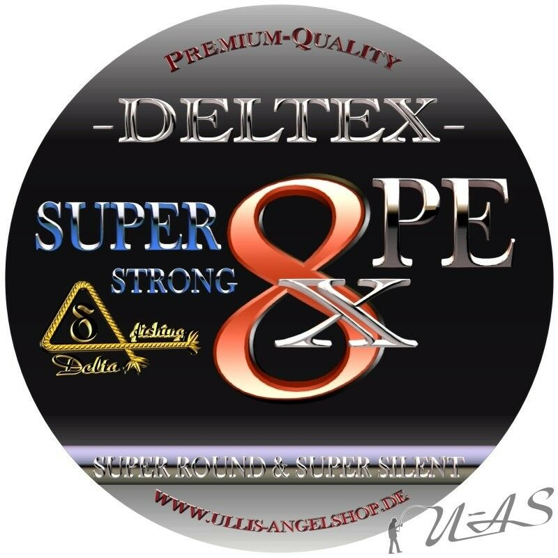 DELTEX SUPER STRONG STRONG STRONG GELB 1000M RUND 8 FACH GEFLOCHTENE ANGELSCHNUR 100% PE KVA 4ddc97