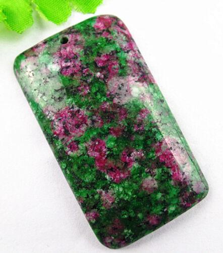 Beautiful unique Green Ruby Zoisite Rectangle pendant bead BA506