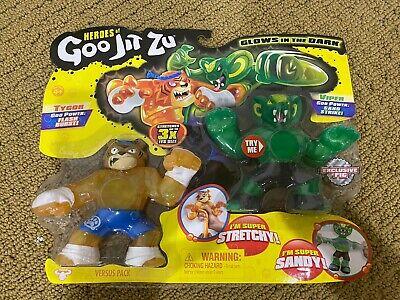 Pack de 2 Glow in the Dark action figures Heroes of Goo jit zu tygor vs VIPER