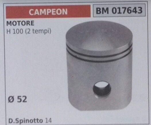 PISTONE COMPLETO MOTORE CAMPEON H100 2T D. 52