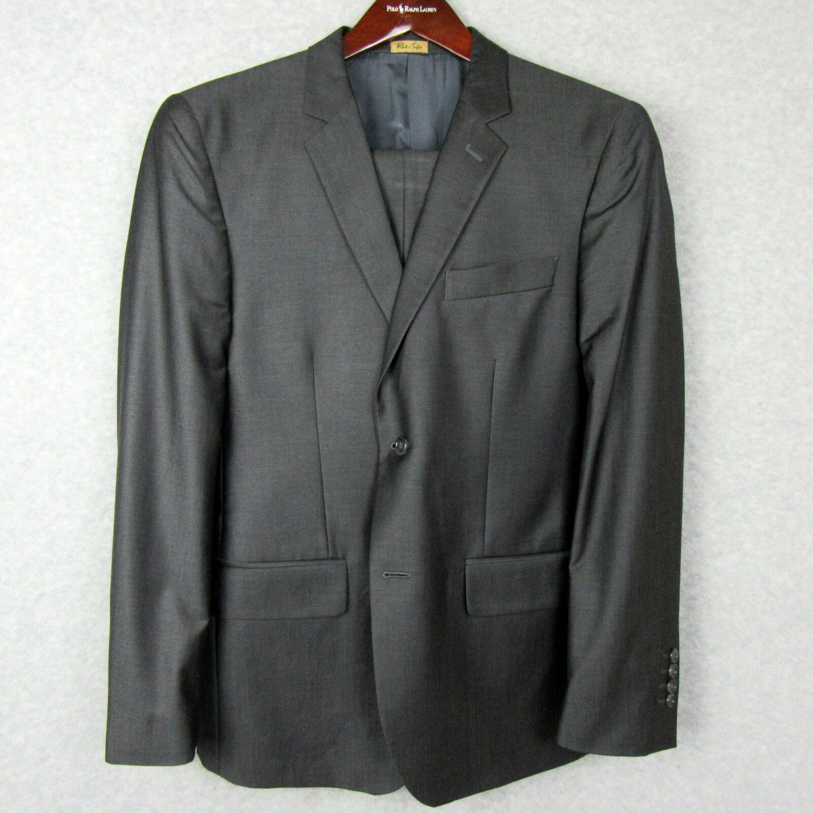 Reid & Taylor  Herren Bespoke Custom Wool Blend Suit Größe 40R Pants Blazer