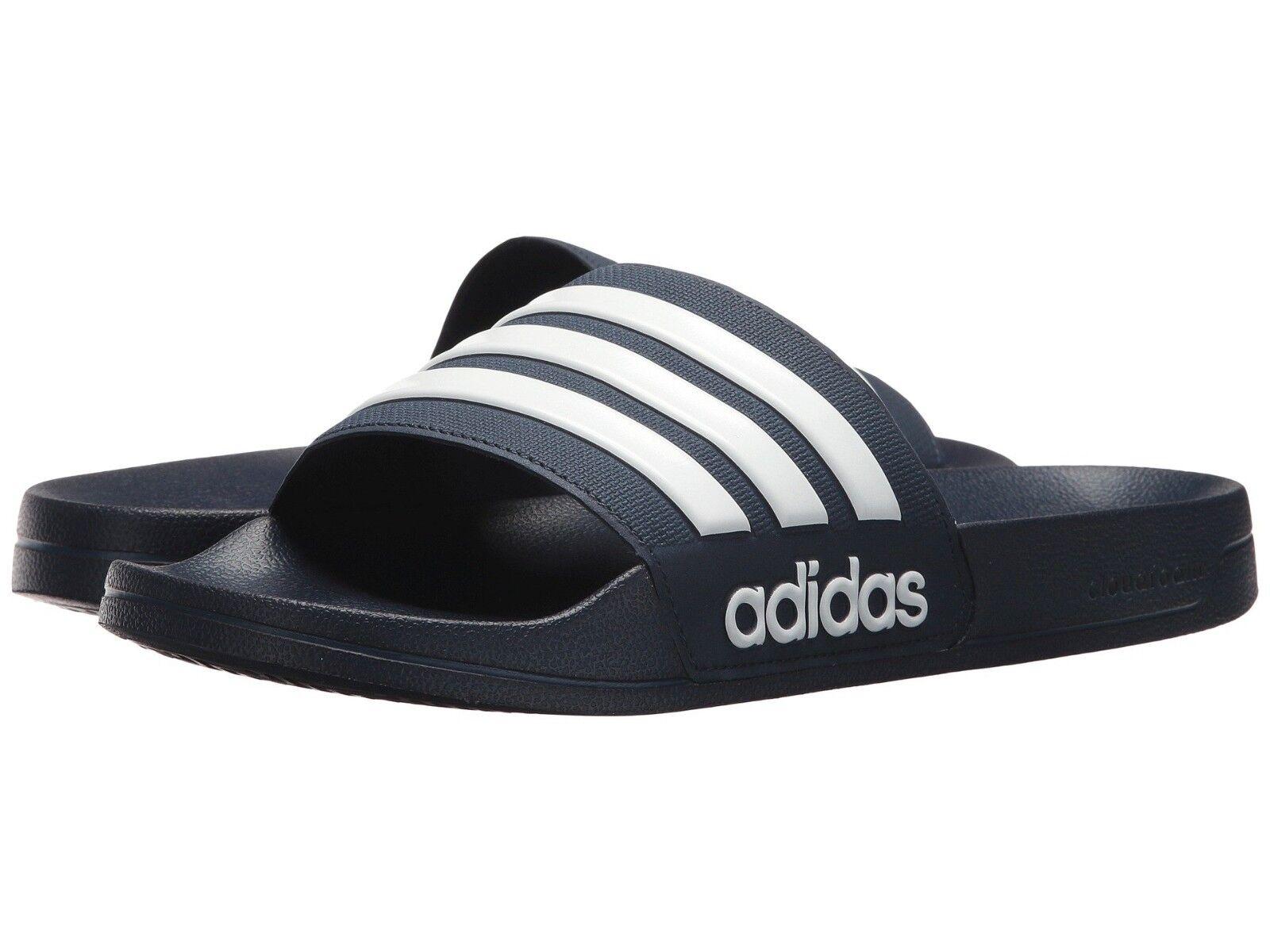40b8e6b66b0ba5 Men adidas Neo CF Adilette Slide Sandal AQ1703 Collegiate Navy white ...