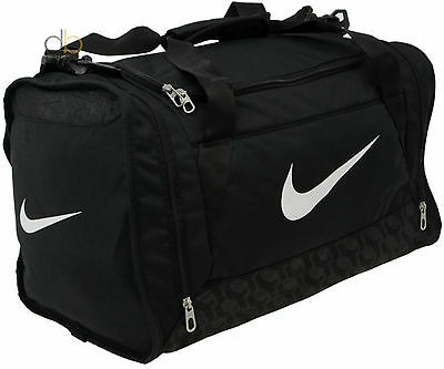 Nike Bag Black Gym Brasilia Sports Training Small Weekend Away Grip Holdall Bag