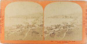 Suisse MONTREUX Baie Da Clarens, Foto Lamy Stereo Vintage Albumina Ca 1870