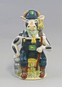 9959313-Porzellan-Bierkrug-Sammlerkrug-Figurenkrug-Kuh-Rind-als-Bauer-H30cm