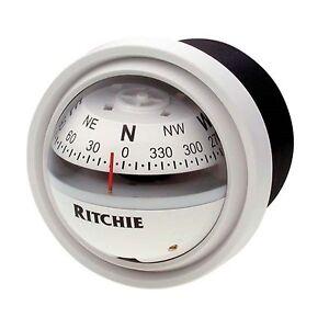 "Ritchie V-57 Dash Mount Marine Compass White 2-3/4"""