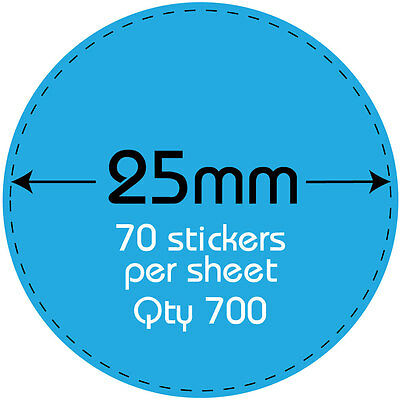 Printing personalised shop price stickers upto 700 labels with your logo