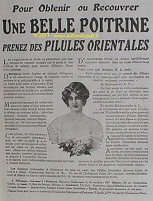 Publicite Pilules Orientales Seins Belle Poitrine De 1923 French Ad Ebay