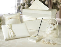 Satin Sash 6 Piece Wedding Collection - Choose From White Or Ivory