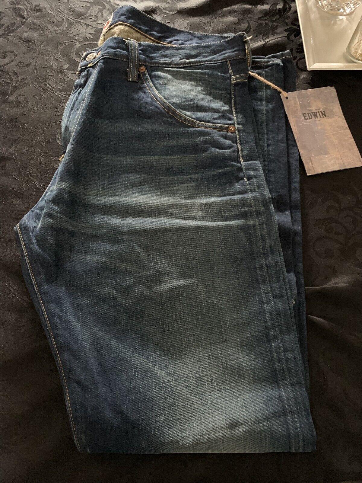 Edwin Taro Dark Wash Japan Made Jeans W38 L34