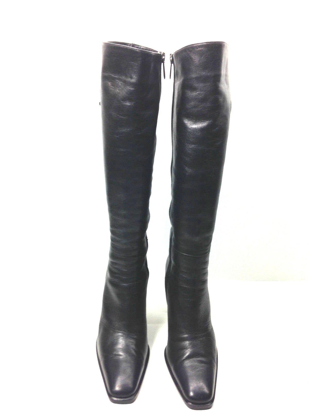 Claudio Fracassa Fur Lined Knee High Black Women's Boots  EUR.36 US. 6