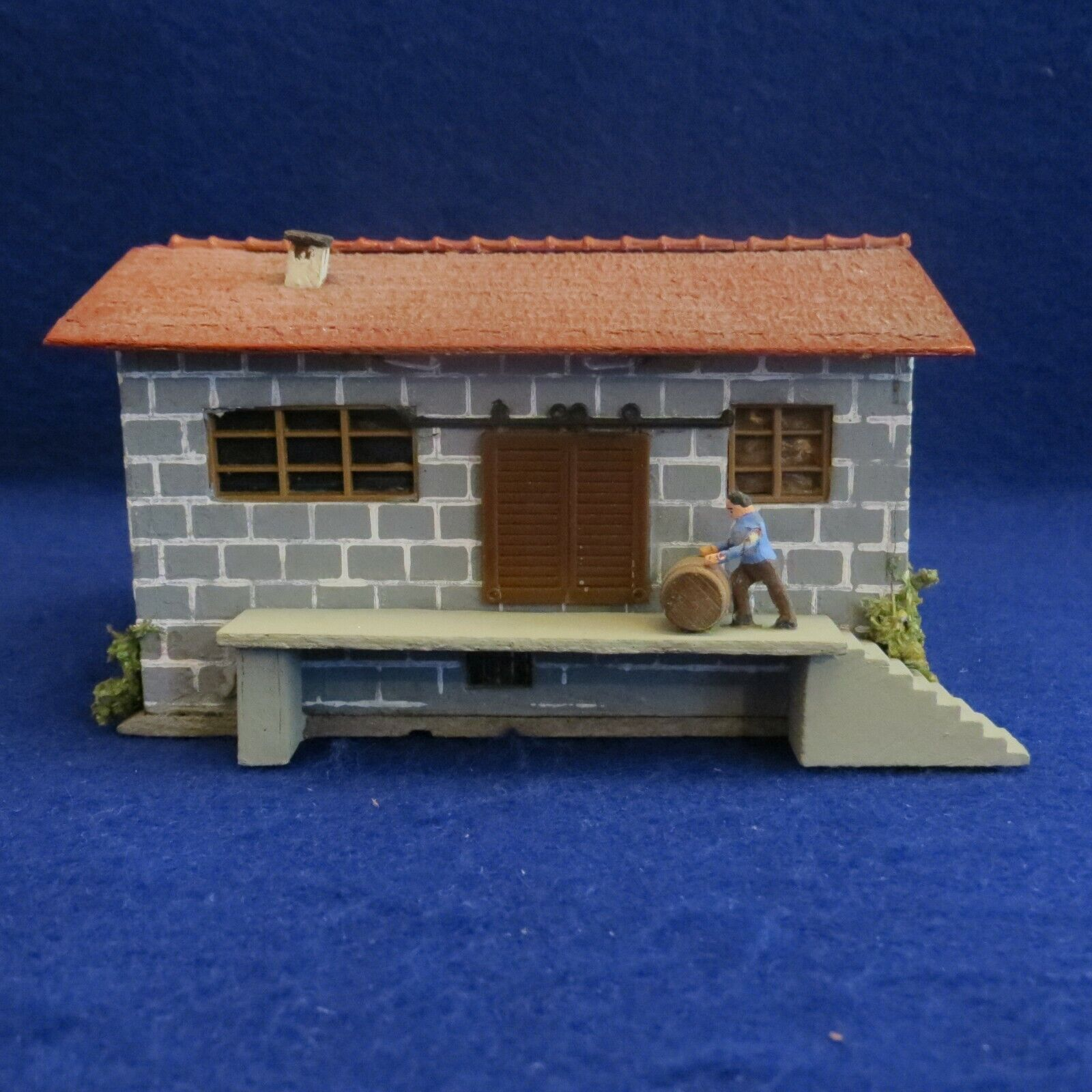 Vintage Faller HO 00 No. 155 Composition Stucco Freight Depot Terminal EXC COND