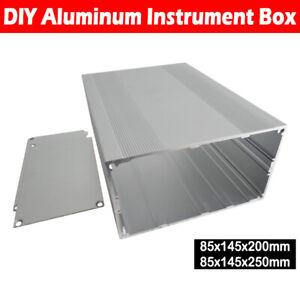 Aluminium-Gehaeuse-Box-Platinen-Sicherheit-Elektronik-Netzteil-Montage-145x200mm