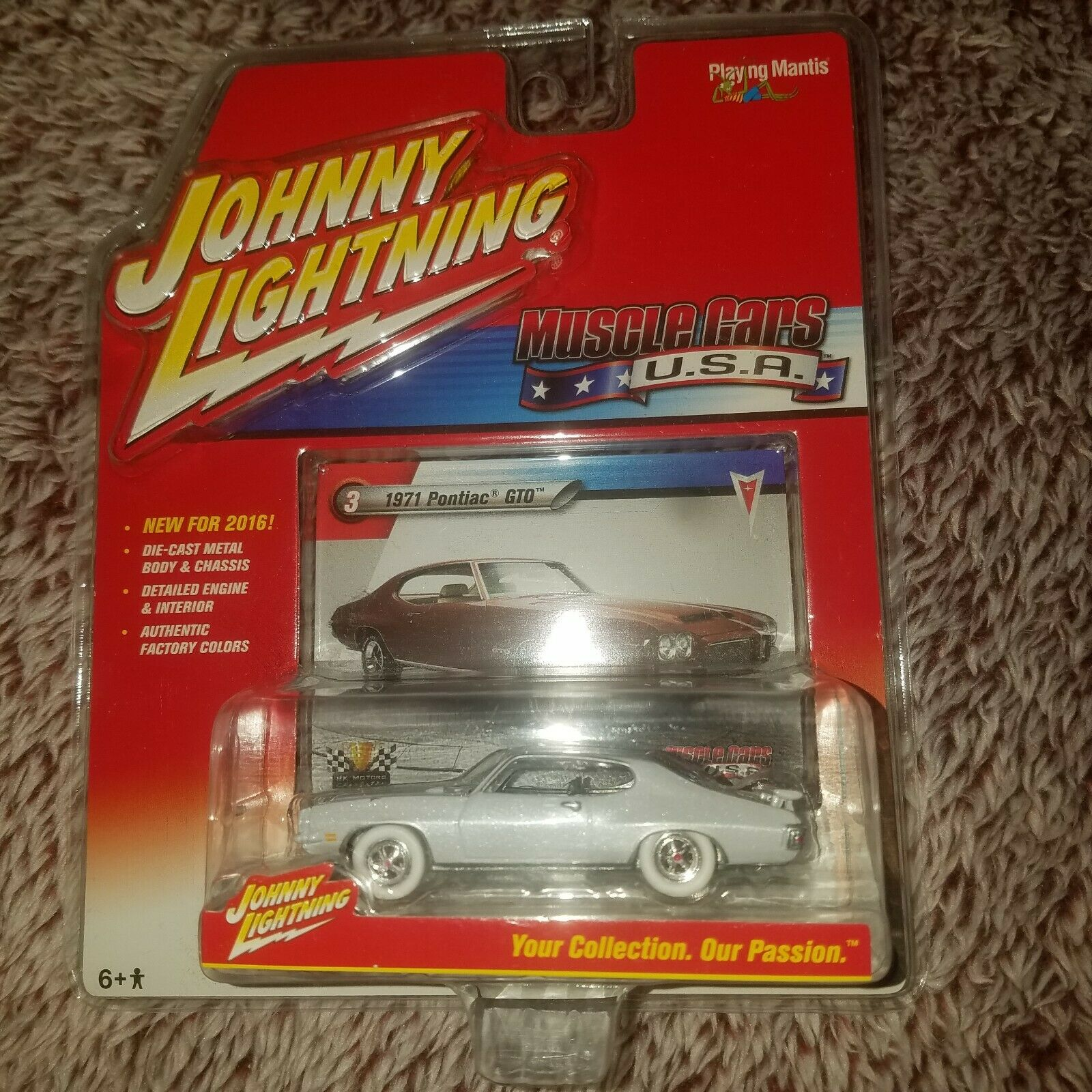 2015-16 Johnny Lightning WHITE 1971 GTO RR Pearl  HTF